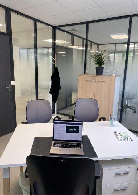 Voici un de nos bureaux de coworking