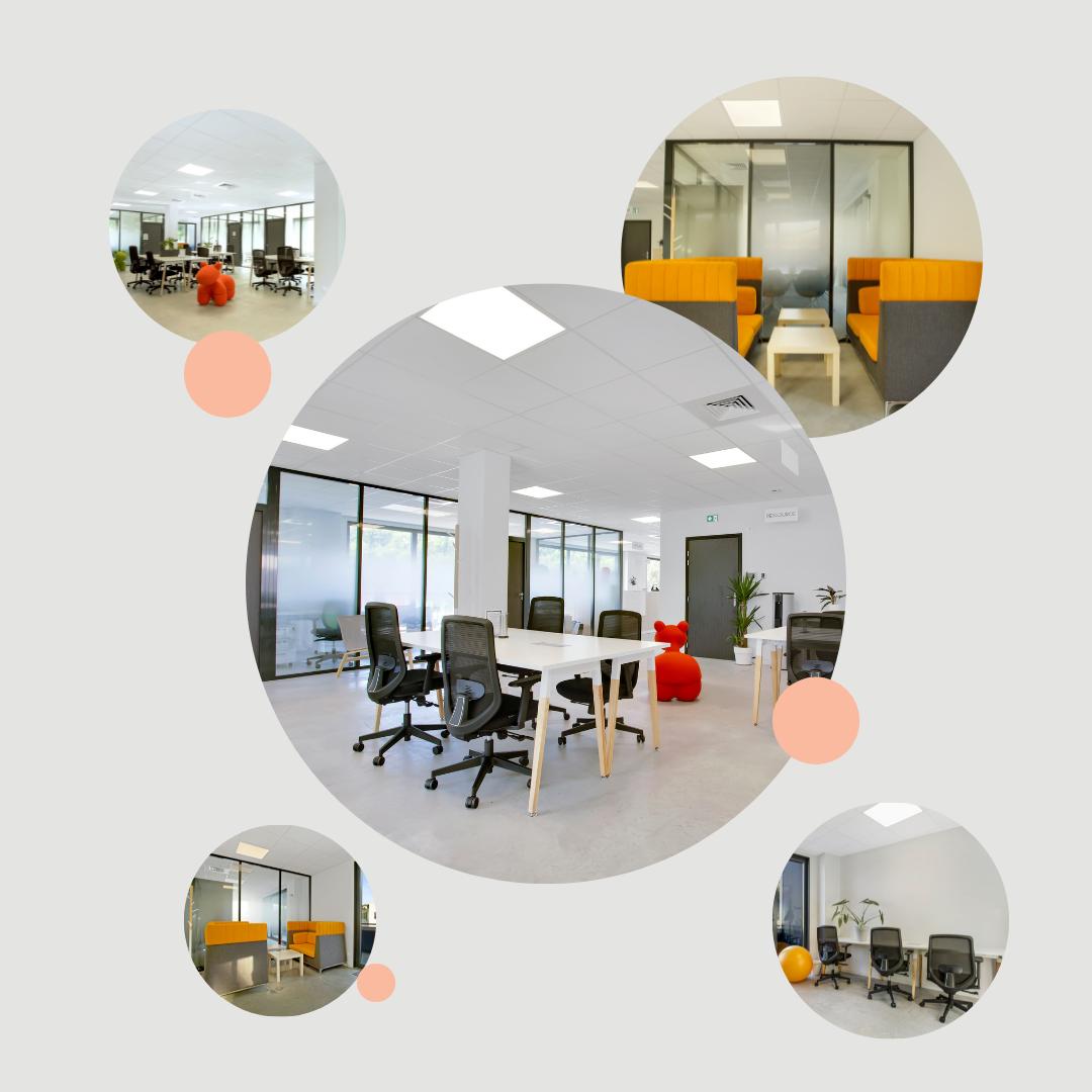 Nos espaces partagés et places nomades dans notre espace de coworking